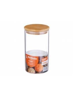 Банка для сыпучих продуктов стеклянная 1000 мл, серия Handy, PERFECTO LINEA