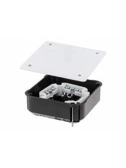 Коробка распаечная СП 110х110х45мм, клеммник, крышка, мет.лапки IP20 ЮПИТЕР (для полых стен)