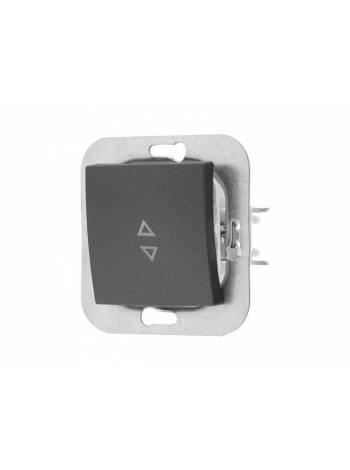Выключатель 1 клав. (скрытый, 10А) проходной, графит, Уют, BYLECTRICA