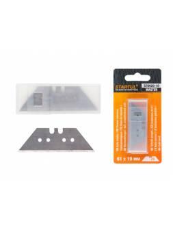 Лезвия сменные трапецевидные д/ножей 10шт STARTUL (ST0920-10) (лезвие для ножа)