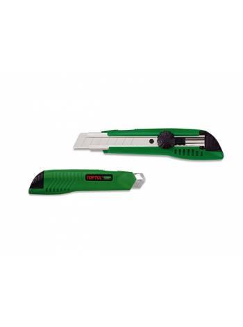 Нож пистолетный с выдвижным лезвием 18мм TOPTUL (SCAD1817)