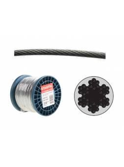 Трос стальной в ПВХ М8(6) DIN 3055 (бухта 100 м) STARFIX