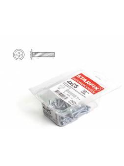 Винт М4х25 мм для мебельной фурнитуры, цинк, кл.пр. 5.8, DIN 967 (50 шт в пласт. конт.) STARFIX