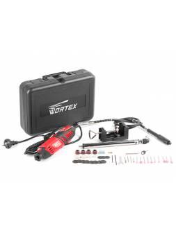 Гравер электрический WORTEX MG 3218 E в чем. + аксессуары (180 вт, 8000-35000 об мин, макс цанга 3,2 мм, чем.+ 40 аксесс., гибкий вал, держатель)