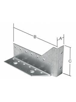 Опора балки левая 25х140x76 мм OB L белый цинк STARFIX