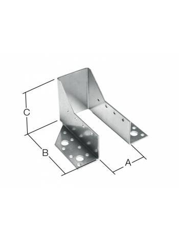 Опора бруса раскрытая 51х165x76 мм OBR R белый цинк STARFIX