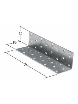 Уголок крепежный равносторонний 120х40x40 мм KUR белый цинк STARFIX