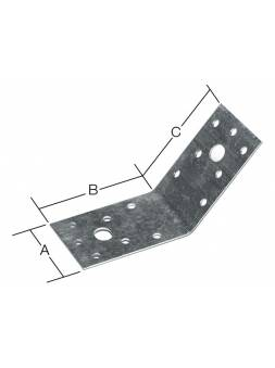 Уголок крепежный под 135 градусов 35х50x50 мм KUS белый цинк STARFIX