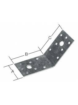 Уголок крепежный под 135 градусов 55х70x70 мм KUS белый цинк STARFIX