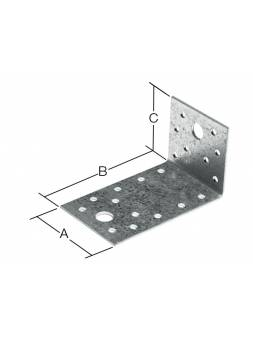 Уголок крепежный асимметричный 90х153x55 мм KUAS белый цинк STARFIX