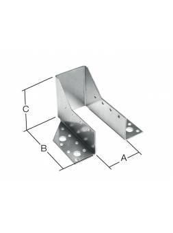 Опора бруса раскрытая 100х140x76 мм OBR R белый цинк STARFIX