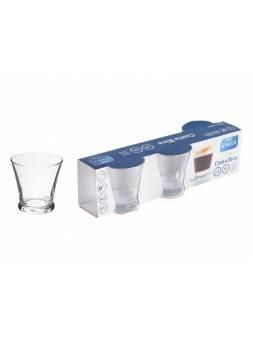Набор стаканов, 3 шт., 130 мл, 75.5 х 71.5 мм, серия Costa Rica, VINTIA (V122640)
