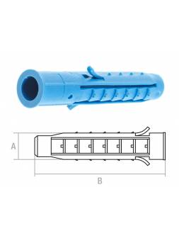 Дюбель распорный 6х40 мм четырехсегментный (50 шт в пласт. конт.) STARFIX