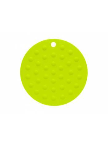 Коврик под горячее силиконовый, круглый, 17.5 х 0.2 см, зеленый, PERFECTO LINEA