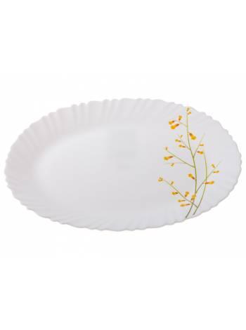 Блюдо стеклокерамическое, 320 мм, овальное, серия Лимонник, DIVA LA OPALA (Collection Classique  Прекрасный подарок)