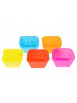 Набор форм для выпечки, силиконовые, квадратные, 7 х 7 х 3 см, 5 шт., PERFECTO LINEA