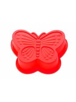 Форма для выпечки, силиконовая, бабочка, 16.5 х 13.5 х 3.5 см, красная, PERFECTO LINEA