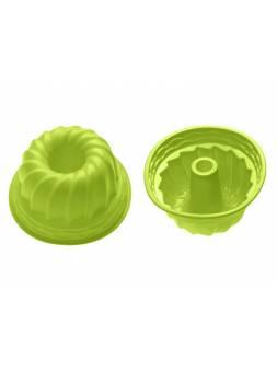 Форма для выпечки, силиконовая, кекс, 24 х 10.5 см, зеленая, PERFECTO LINEA