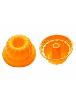 Форма для выпечки, силиконовая, кекс, 24 х 10.5 см, оранжевая, PERFECTO LINEA