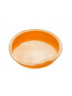 Форма для выпечки, силиконовая, круглая, 24 х 4 см, оранжевая, PERFECTO LINEA