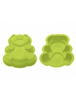 Форма для выпечки, силиконовая, мишка, 18 х 15 х 3.8 см, зеленая, PERFECTO LINEA
