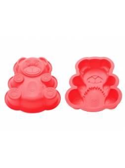 Форма для выпечки, силиконовая, мишка, 18 х 15 х 3.8 см, красная, PERFECTO LINEA