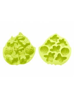Форма для выпечки, силиконовая, насекомые, 28 х 21.5 х 3.5 см, зеленая, PERFECTO LINEA