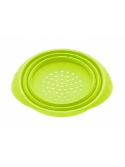 Дуршлаг, силиконовый, 18 х 8.5 см, зеленый, PERFECTO LINEA