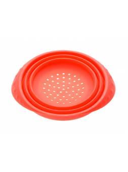 Дуршлаг, силиконовый, 18 х 8.5 см, красный, PERFECTO LINEA