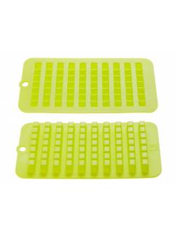 Форма для льда, силиконовая, кубики, 22.5 х 11 х 1.5 см, зеленая, PERFECTO LINEA (Супер цена!)