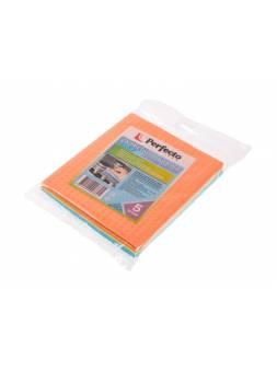 Салфетки бытовые, 5 шт., 15х17 см, губчатые, PERFECTO LINEA