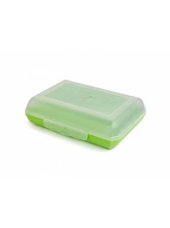 Ланч-бокс 0,7 л, салатный, BEROSSI (Изделие из пластмассы. Литраж 0.7 литра.   Размер 190 х 134 х 54 мм)