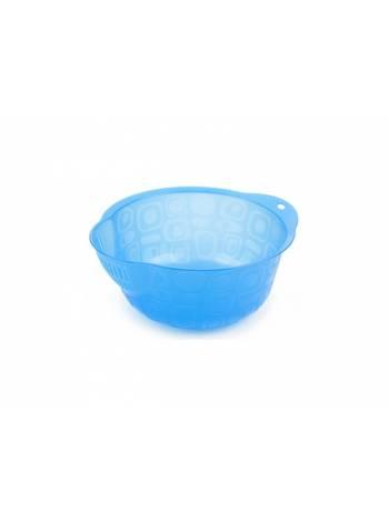 Миска-дуршлаг, джинс , BEROSSI (Изделие из пластмассы. Литраж 2 литра.   Размер 230 х 206 х 101 мм)