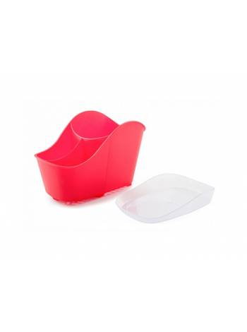 Сушилка для столовых приборов Teо, сангрия, BEROSSI (Изделие из пластмассы. Размер 203 х 126 х 137 мм)