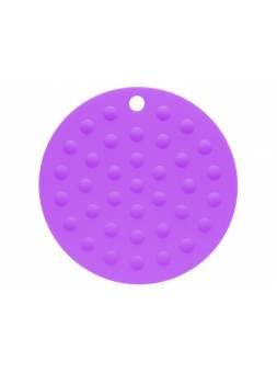 Коврик под горячее силиконовый, круглый, 17.5 х 0.2 см, фиолетовый, PERFECTO LINEA (Супер цена!)