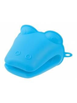 Прихватка, силиконовая, 9 х 10.5 см, синяя, PERFECTO LINEA (Супер цена!)