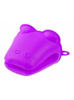 Прихватка, силиконовая, 9 х 10.5 см, фиолетовая, PERFECTO LINEA (Супер цена!)