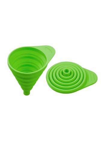 Воронка силиконовая 11 х 7, зеленая, PERFECTO LINEA