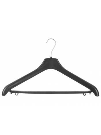 Вешалка костюмная №5Р, пластмассовая, черная, 430 х 20 х 250, ЛИТОПЛАСТ