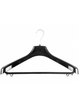Вешалка костюмная №4Р, пластмассовая, черная, 420 х 55 х 255, ЛИТОПЛАСТ
