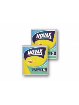 Салфетки влаговпитывающие 3шт/уп NV (Материал: Армированная целлюлоза. Цвет: Желт./Голуб./Красн./Зел. Размер единицы:15,5 x 15,5см) (NOVAX)