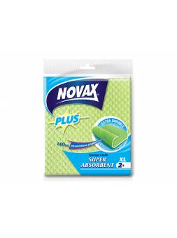 Салфетки влаговпитывающие XL 2шт NV Plus (Материал: Натуральная целлюлоза. Цвет: Зеленый. Размер единицы: 18 x 20 см) (NOVAX)