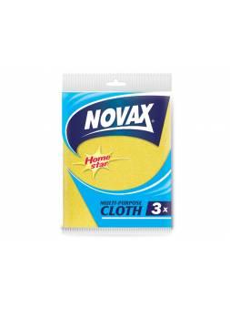 Салфетки универсальные 3 шт NV (Материал: Вискоза, полиэстер. Цвет: Желтый . Размер единицы: 30 x 36см) (NOVAX)