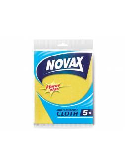 Салфетки универсальные 5 шт NV (Материал: Вискоза, полиэстер. Цвет: Желтый . Размер единицы: 30 x 36см) (NOVAX)