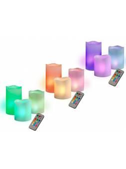 Свечи светодиодные CL3-RGB-SET3 (компл. 3 св.) JazzWay (Для новогодне сервировки стола)   из  воска.)