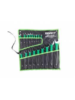 Набор ключей комбинир. 8-32мм 18шт в прорезиненной оплетке ВОЛАТ (на полотне)