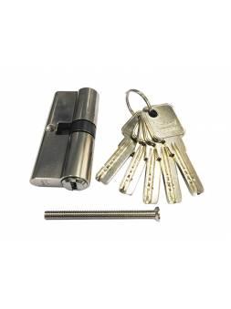 Евроцилиндр DORMA CBR-1 60 (30x30) никель (перфорированный ключ)
