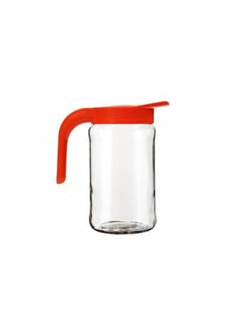 Кувшин Бочонок, фуксия, BEROSSI (Изделие из стекла и пластмассы. Литраж 1.5 литра)