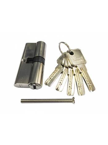 Евроцилиндр DORMA CBR-1 80 (40x40) никель (перфорированный ключ)