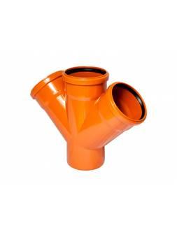 Крестовина для наружной канализации 110/110/110 х45 РосТурПласт (Крестовина нар. 110х110х110х45)